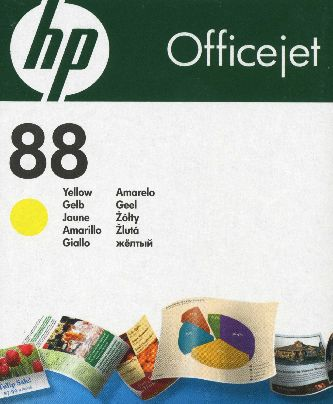 Druckerpatrone für HP OfficeJet Pro K5300 / K5400 / K550 / K8600 / L7400 / L7480 / L7500 / L 7580 / L7590 / L7600 / L7680 / L7681 / L7700 / L7780 Yellow (HP88 Yellow C9388A)